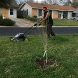 Mr. Vega loves mowing his own yard!